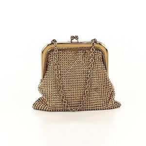 Whiting & Davis Vintage Gold Mini Bag